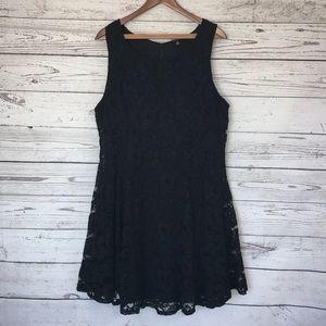 Torrid Black Lace Sleeveless Sheath Dress Size 20